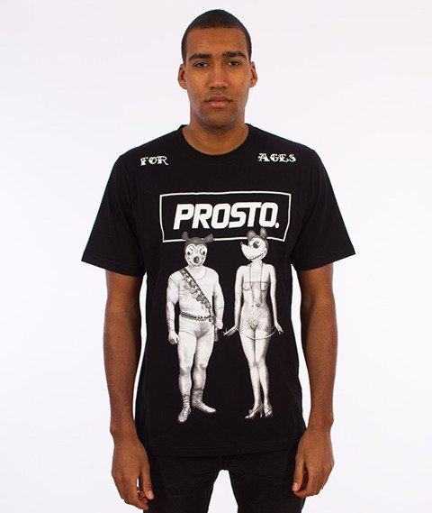 Prosto-Mouse Couple T-Shirt Czarny