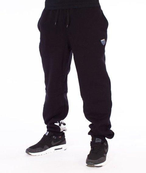 Prosto-Strip Spodnie Dresowe Czarne