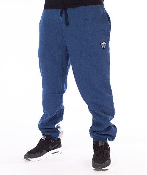 Prosto-Strip Spodnie Dresowe Granatowe