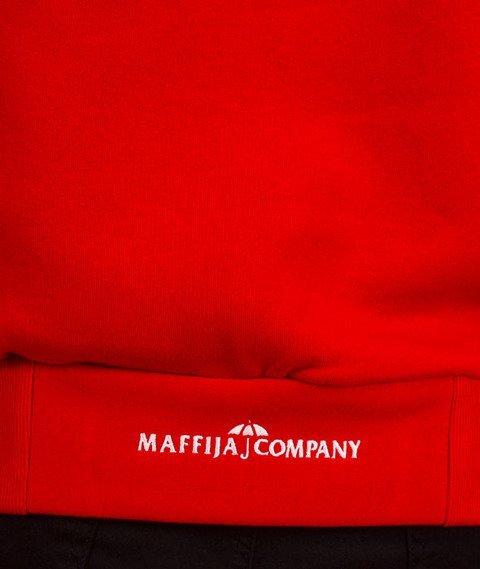 SB Maffija-Rood-Screen Bluza Kaptur Czerwona