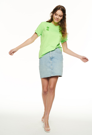 SSG Girls NEON 3D RUBBER T-Shirt Zielony