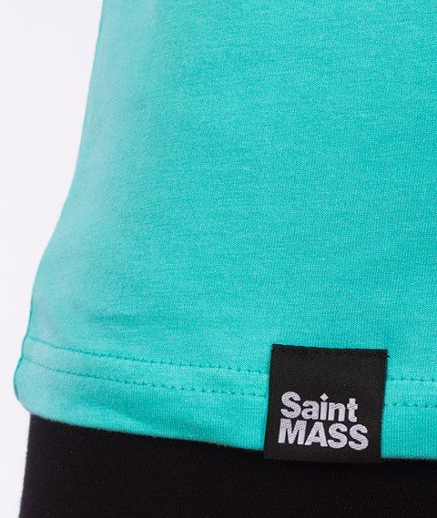 Saint Mass-Signature T-shirt Damski Turkusowy