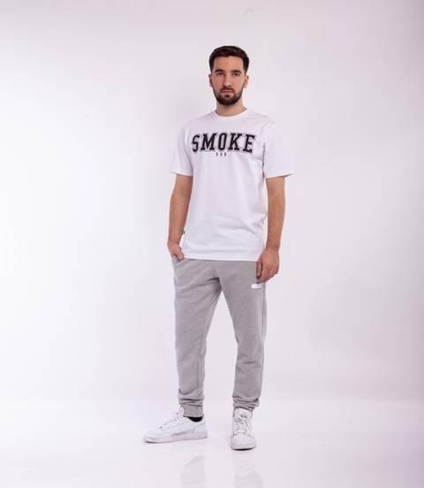 Smoke Story RUBBER 3D Spodnie Dresowe Slim jasny Szary