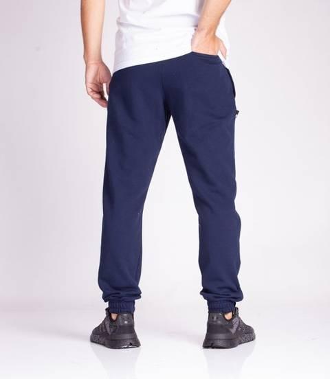 Smoke Story SSG 3D EFFECT Spodnie Dresowe Slim Granatowy