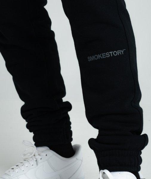 Smoke Story STRAIGHT Spodnie Dresowe Slim Czarny