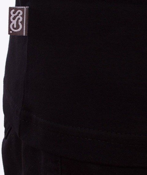 SmokeStory-08 Lines T-Shirt Czarny