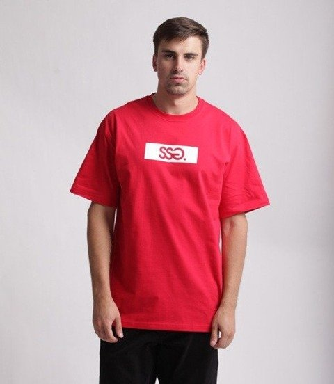 SmokeStory-Belt SSG T-Shirt Czerwony