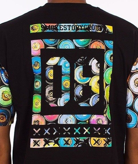 SmokeStory-Cans 08 T-Shirt Czarny