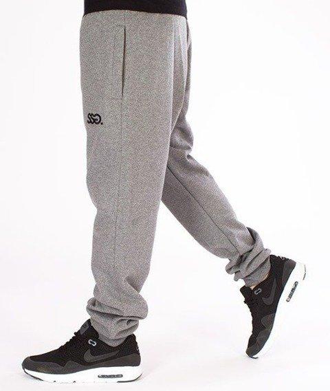 SmokeStory-Classic SSG Slim Spodnie Dresowe Ciemny Melanż