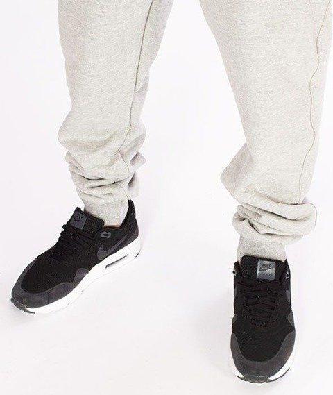SmokeStory-Classic SSG Slim Spodnie Dresowe Jasny Melanż