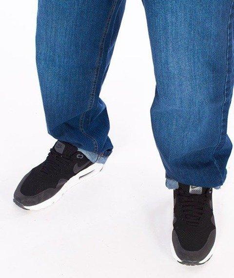 SmokeStory-Classic Slim Jeans Spodnie Wycierane Niebieskie