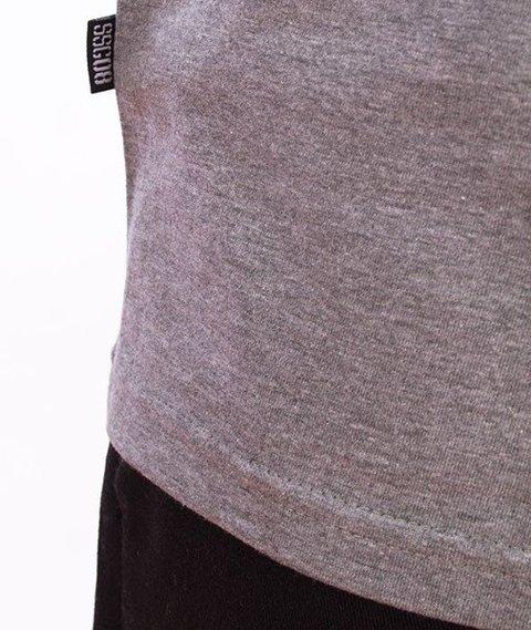 SmokeStory-Cut Front Back T-Shirt Czarny/Szary