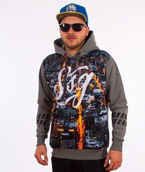 SmokeStory-Dark City Tag Bluza Kaptur Grafitowa