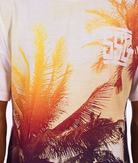SmokeStory-Full Palms T-Shirt Biały/Multikolor