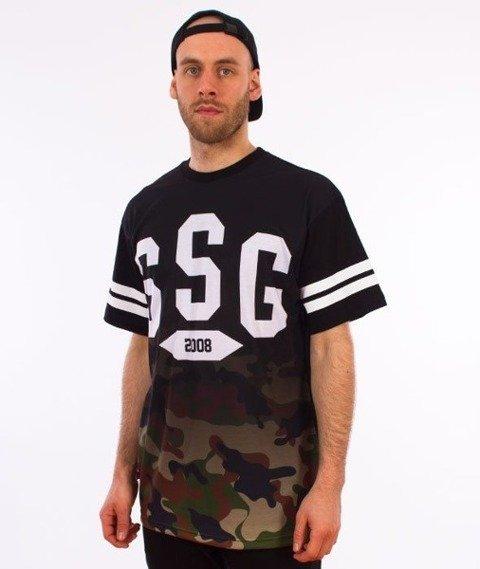 SmokeStory-Gradient Moro T-Shirt Czarny