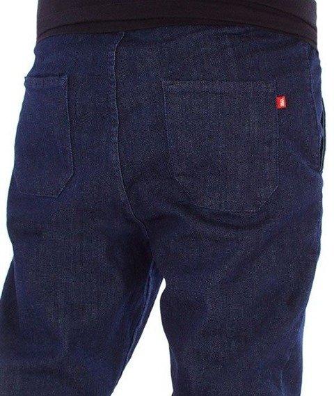 SmokeStory-Jeans Stretch Straight Fit Guma Spodnie Jeans Dark