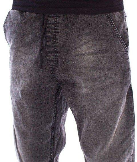 SmokeStory-Jeans Stretch Straight Fit Guma Spodnie Jeans Szary Jeans