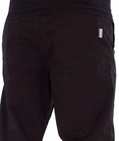 SmokeStory-Jeans Stretch Straight Fit z Gumą Spodnie Czarne