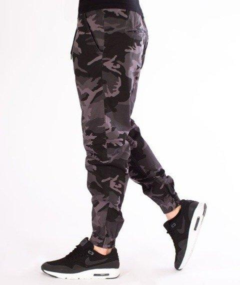 SmokeStory-Jogger Regular Guma Tkaninowe Spodnie Moro BW