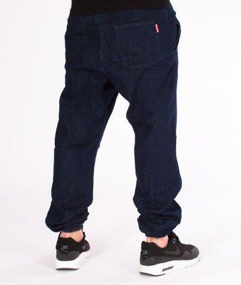 SmokeStory-Jogger Regular z Gumą Jeansowe Dark Blue