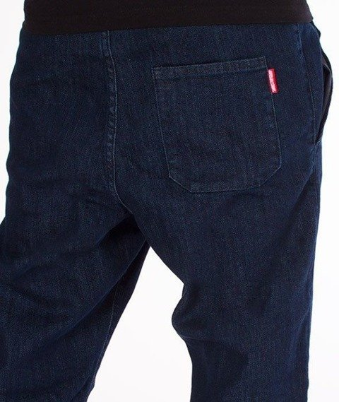 SmokeStory-Jogger Regular z Gumą Jeansowe Dark Blue