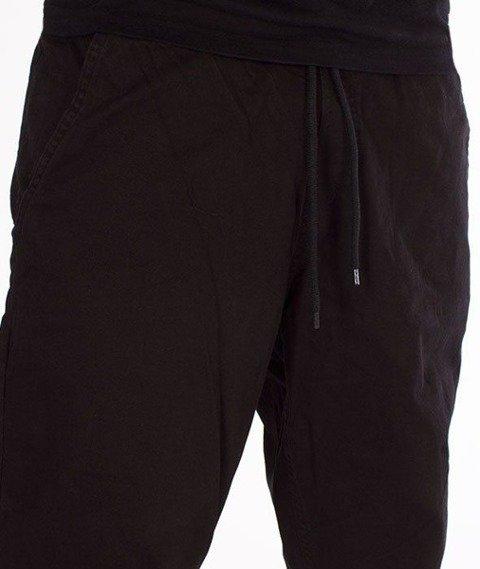 SmokeStory-Jogger Regular z Gumą Spodnie Tkaninowe Czarne