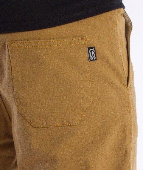 SmokeStory-Klasyk Jogger Slim Spodnie Miodowe