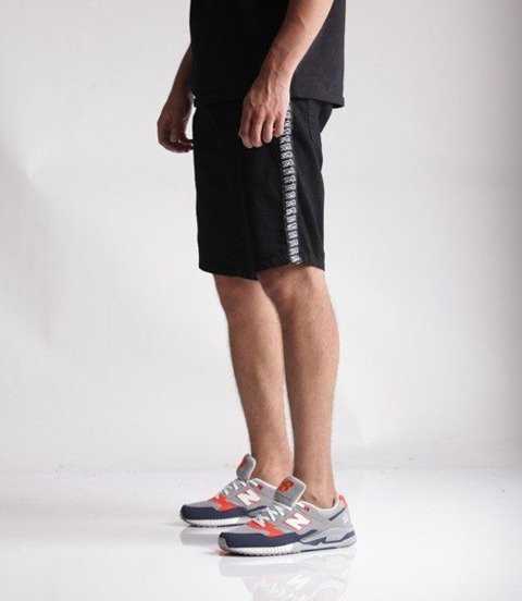 SmokeStory-Lampas Logo Krótkie Spodnie Czarny Jeans