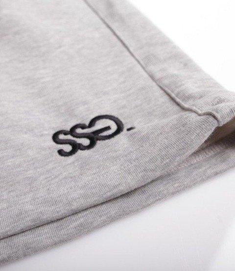SmokeStory-Light Classic SSG Krótkie Spodnie Bawełniane Jasno Szare