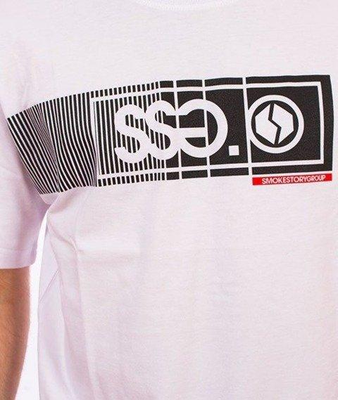 SmokeStory-Lines SSG T-Shirt Biały