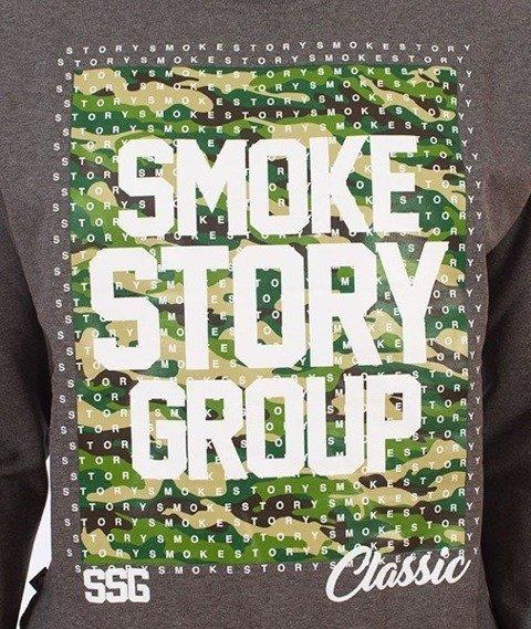 SmokeStory-Moro Dots Bluza Szara