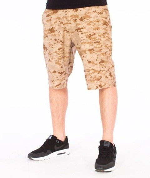 SmokeStory-Moro Krótkie Spodnie Slim Pixel Beż