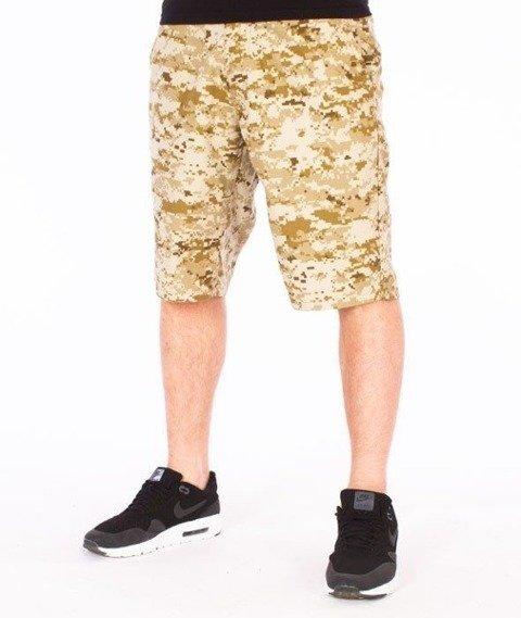 SmokeStory-Moro Krótkie Spodnie Slim Pixel Pustynna Burza