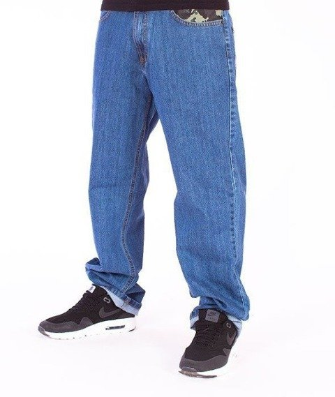 SmokeStory-Moro Wstawka Regular Jeans Light Blue