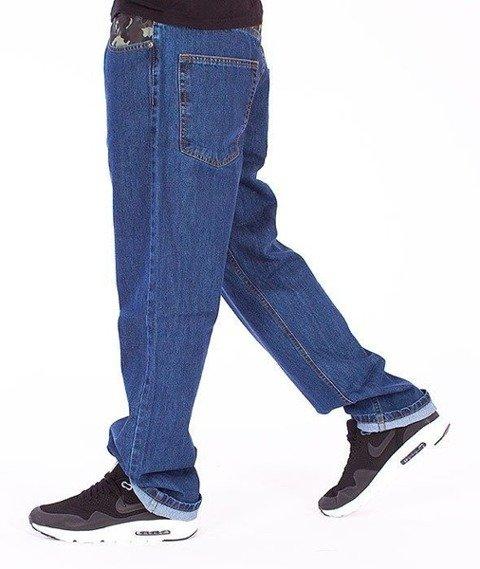 SmokeStory-Moro Wstawka Regular Jeans Medium Blue