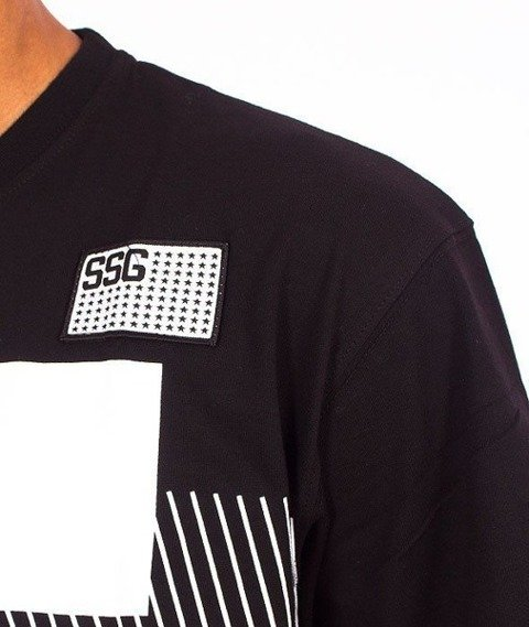 SmokeStory-Multi Lines T-Shirt Czarny