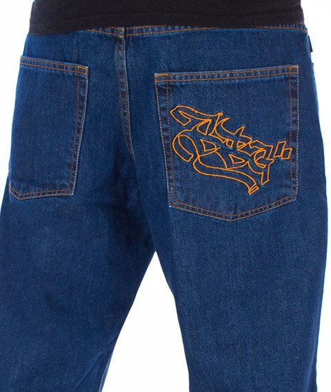SmokeStory-Outline SSG Regular Jeans Spodnie Medium Blue