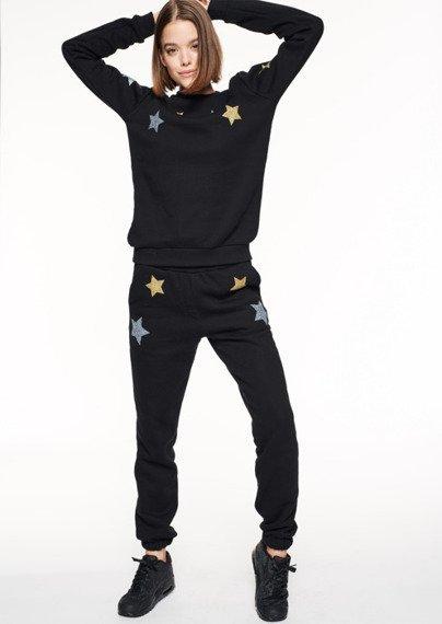 SmokeStory-Pattern STARS CLASSIC SWEATSHIRT Bluza Damska Czarna