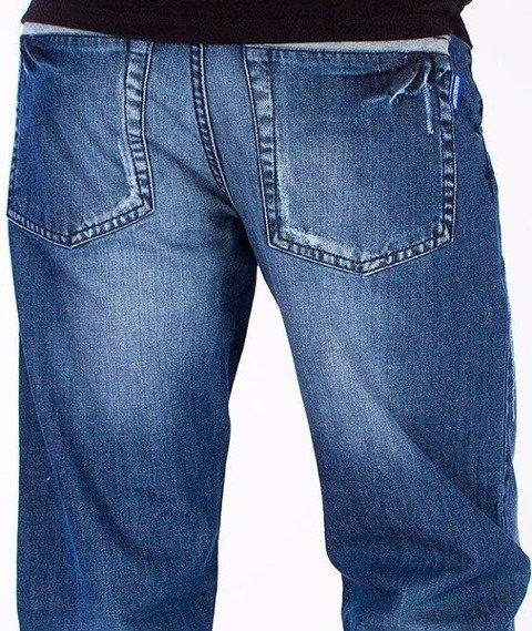 SmokeStory-Plisa Szara Jogger Jeans Wycierane
