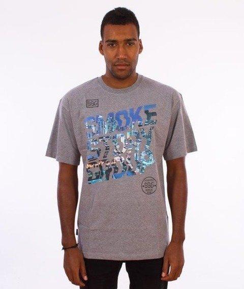 SmokeStory-SMG Slant T-Shirt Szary