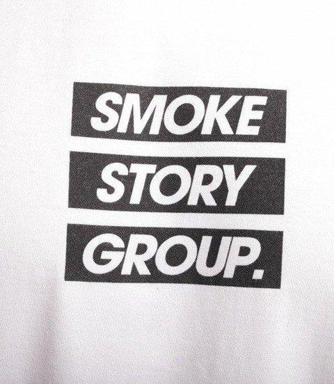 SmokeStory-SMG Three Lines Longsleeve Biały
