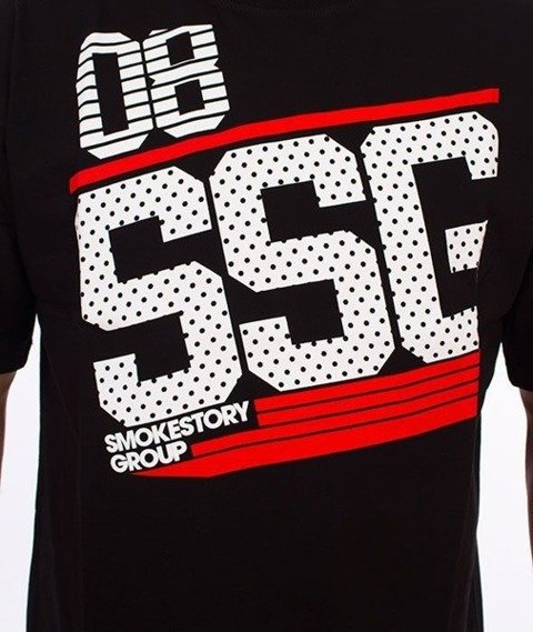 SmokeStory-SSG Dots T-Shirt Czarny