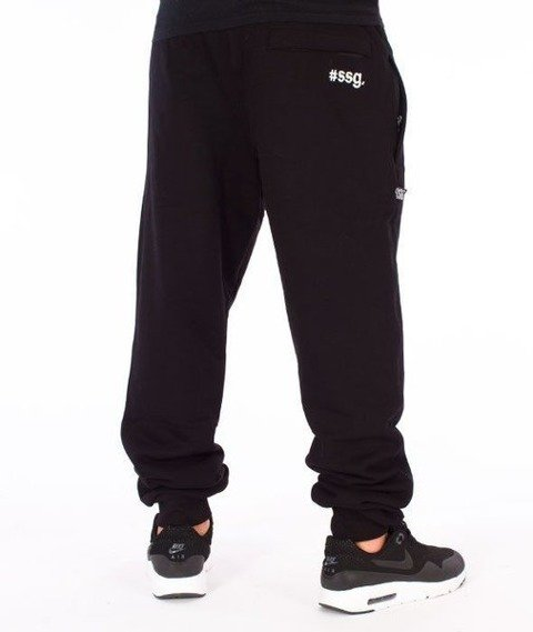 SmokeStory-#SSG Slim Spodnie Dresowe Czarne
