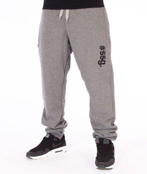 SmokeStory-#SSG Slim Spodnie Dresowe Grafitowe