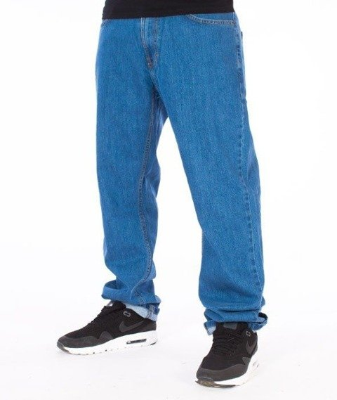 SmokeStory-SSG Tag Slim Jeans Light Blue