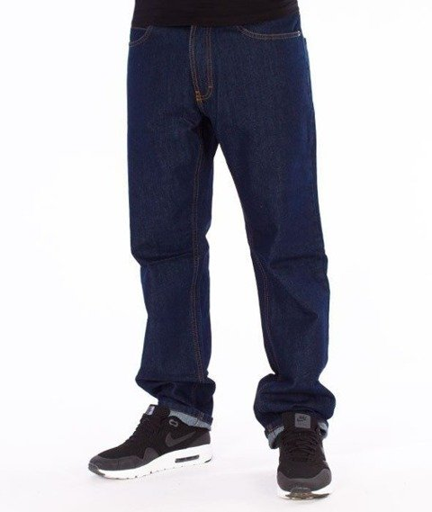 SmokeStory-SSG Tag Slim Jeans Spodnie Dark Blue