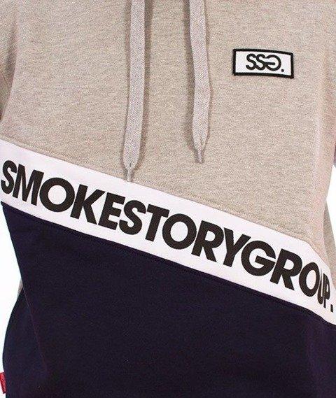 SmokeStory-Slant Smg Bluza Kaptur Szary/Granat
