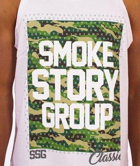 SmokeStory-Smog Moro Dots Tank Top Biały
