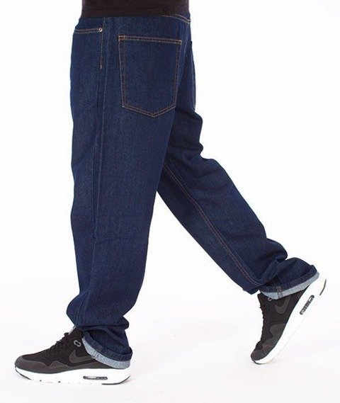 SmokeStory-Smoke Tag Regular Jeans Dark Blue