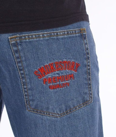 SmokeStory-SmokeStory Slim Jeans Light Blue